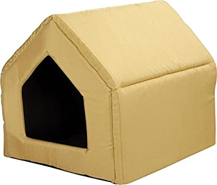 Perros cueva Perros Casa Cama Para Perros Caseta perro cesta Exclusive Amarillo (M: 51