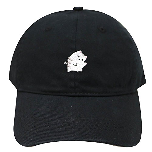 City Hunter C104 Cute Cat Cotton Baseball Dad Cap 25 Colors (Black)