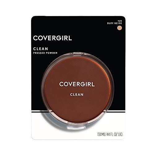 COVERGIRL Clean Pressed Powder Foundation Buff Beige 125, 1 Count (packaging may vary)
