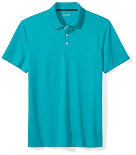 Amazon Essentials Men's Slim-Fit Quick-Dry Golf Polo Shirt, Dark Teal, Medium