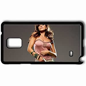 Personalized Samsung Note 4 Cell phone Case/Cover Skin Alicia Machado Black by mcsharks