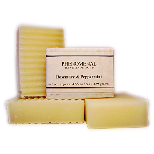 Rosemary  Peppermint handmade with essential oils handmade with essential oils 1 Bar, 4.5 oz. by: Phenomenal Handmade Soap
