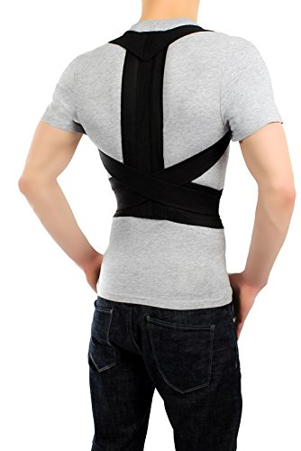 ®BeFit24 Modern Posture Corrector - Great Solution To Fix Computer Slouch - Full Back Pain Relief Belt - Best Shoulder Support Brace - [Size 3] by BeFit24