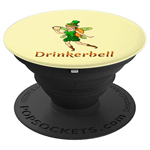 Drinkerbell | Funny St Patricks Day Fairy Women Beer Design - PopSockets Grip and Stand for Phones and Tablets -