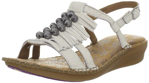 Vintage Hush Puppies (Hush Puppies Women's Laze Sling Slingback Sandal,Off White,9.5 W US)