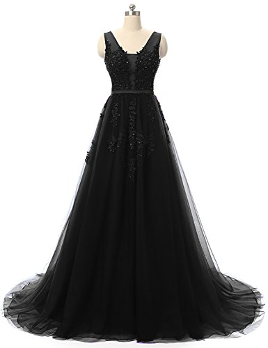 YIRENWANSHA Evening Dress Mermaid Lace Appliqued Sash Belt Formal Party Gown Dresses Plus Size Wedding Guests Empire Waist Beaded Sleeveless Robes Sweep Train RYPM801-T Black Size 22W ()