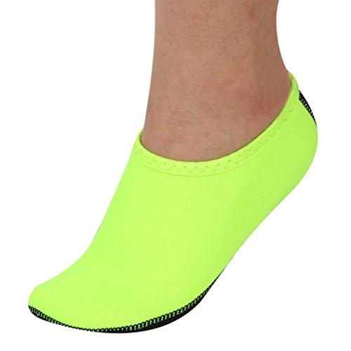 buy online ff449 f136a Hommes Femmes Yoga Surf Plage Snorkeling Chaussettes Natation Plongée  Chaussettes Chaussures De Bain Vert