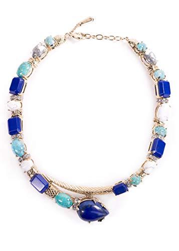 (Roberto Cavalli Swarovski Embedded Crystal Blue Stone Serpent Choker~RTL $2660)