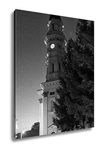 Ashley Canvas Catholic Church In Uzhhorod City, Kitchen Bedroom Living Room Art, Black/White 30x24, AG6221818 by Ashley Canvas