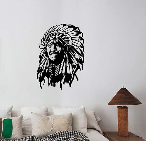 Native American Chief Vinyl Wall Sticker Indian Apache Decal Art Decorations for Home Living Room Bedroom Office Decor Ideas na4