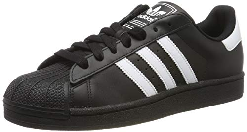 adidas Originals Men's Superstar Foundation Lifestyle Basketball Shoe Black/White/Black 8 D(M) US