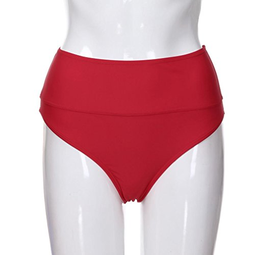 Bas de Bikini Brsilien Taille Bringbring Vintage Femmes Mmoires Rouge Haute Bain Maillots Beachwear 8A6WYZ