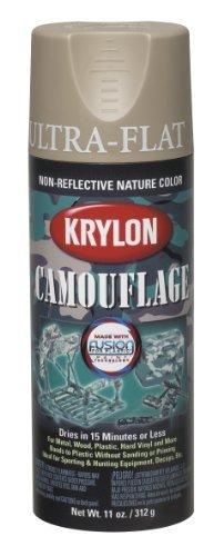 Krylon K04291000 Camouflage With Fusion For Plastic Paint Technology Aerosol Spray Paint, 11-Ounce, Camouflage Khaki Color: Camouflage Khaki Model: K04291000 Tools & Home Improvement
