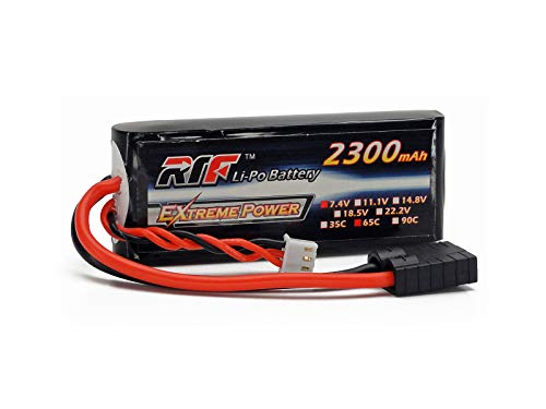 7.4V 2300mAh 2S Cell 65C-130C LiPo Battery Pack w/ Traxxas High Current Style Connector & Warranty (1/16 E-Revo, 1/16 Slash, 1/16 Summit) (Battery Lipo Style)