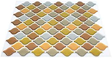 1 pi/èce d/écoration Murale SUMOZO Stickers 3D Peel and Stick Tiles Stickers Pet/&PU pour Maison dosseret de Chambre 10 x 8,5 Cuisine Salle de Bain carrelage Mural