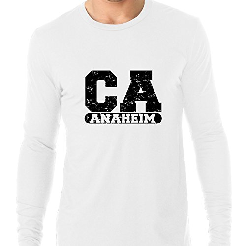 Anaheim, California CA Classic City State Sign Men's Long Sleeve -