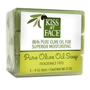 Kiss My Face Pure Olive Oil Soap Fragrance Free -- 3 Bars by Kiss My Face [Beauty] (Kiss My Face Soap)