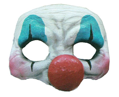 Happy Clown Latex Half Mask Adult Accessory