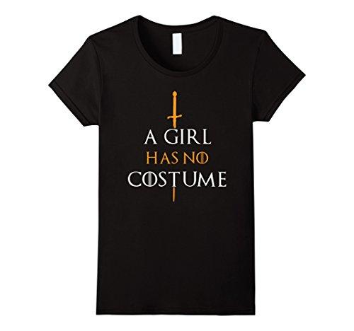 Womens Cute A Girl Has No Costume Halloween Tee Shirt Large (No Halloween Costume Ideas)