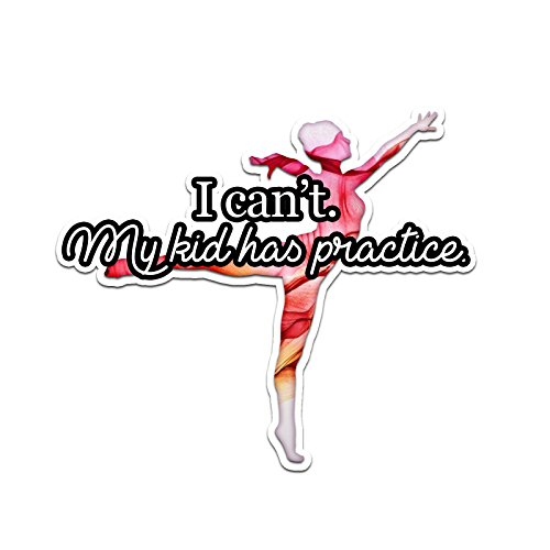 I Can't My Kid Has Practice Abstract Dance Smoke Color Vinyl Sports Car Laptop Sticker - 6