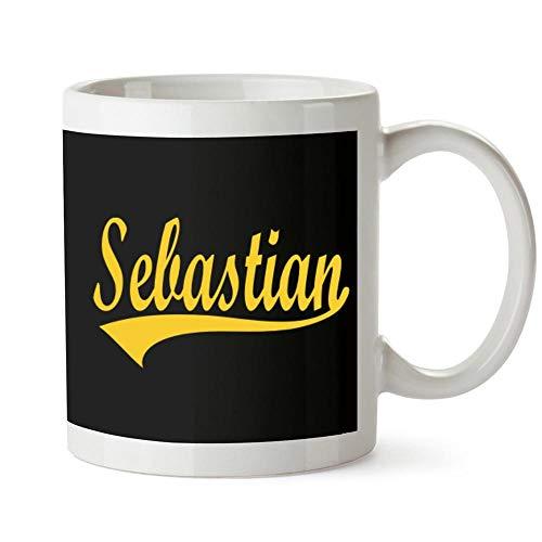 Idakoos Sebastian Baseball Style Mug 11 ounces