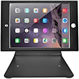 Firstand Tablet Stand Holder Mini Desktop Anti-Theft Security Kiosk & POS Stand Holder Enclosure Lock Key, Compatible iPad Mini 1/2/3/4, 360 Degree Rotating Design (Black)