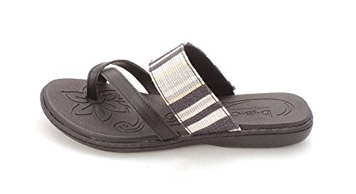 B.O.C. Womens Gould Open Toe Casual Slide Sandals Black ClmLTf