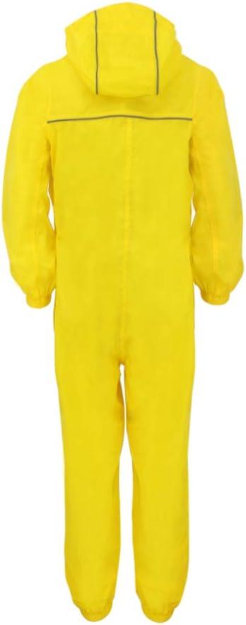 Leopard Boys Girls Waterproof Windproof Lightweight Kids Rain Suit Coat All in One Dry Suit Puddle Unisex Drip Drop Raincoat