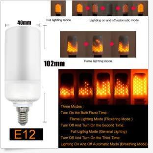 TiooDre - Bombillas LED de iluminación de llama, luces creativas E12 con luces de emulación