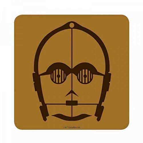 Star Wars Coaster C-3PO Case (6) Half Moon Bicchieri for sale  Delivered anywhere in USA