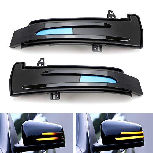 (iJDMTOY Smoked Lens Dynamic Sequential Blink LED Side Mirror Turn Signal Light Assembly For Mercedes C E CLS GLK GL ML Class, etc)