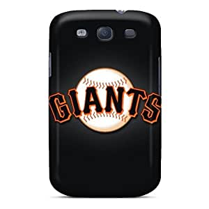 Shock Absorbent Hard Phone Covers For Samsung Galaxy S3 With Customized Realistic San Francisco Giants Image JohnPrimeauMaurice