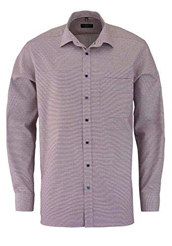 ETERNA Comfort Fit Hemd super langer Arm Muster violett AL 72