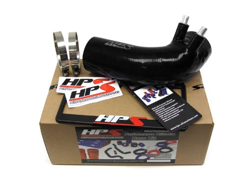HPS (18521-BLK) Black Silicone Post MAF Air Intake Tube for Lexus IS-F V8 5.0L