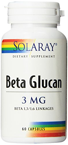 Solaray Beta Glucan Capsules, 3 mg, 60 Count