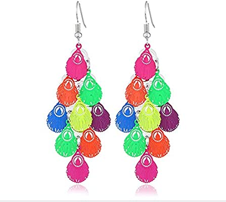 Stainless Steel Animal and Plant Print Earrings ZTANPS Fashion Personality Earrings