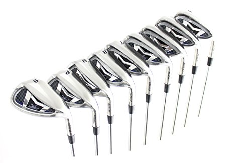 "AGXGOLF Men's Magnum XS Tour Edition Stainless Steel Irons Set 3-9 Irons + Pitching Wedge + Sand Wedge: Stiff Flex, Tall Length +1.5""; Right - Wedge 3 Set Iron Pitching"