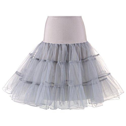 Annata Petticoat di Oscillazione Grigio Retro 50 1950 Rockabilly Sottogonna MEITEMEI AtdHqwCq
