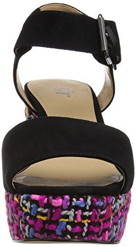 Sandal Women's Black Farah Dress Platform Buckle Fix Single The S54TcW80qc