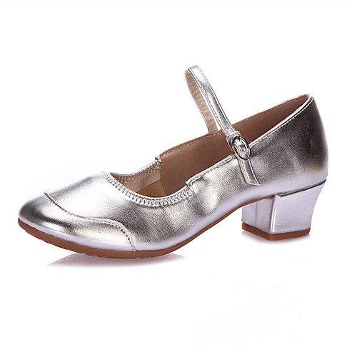 Q Heel Latin Low T Swing Jazz Shoes Paillette Golden Sandals Tap Dance Tango Salsa T Indoor Women's Modern Heels Practice Golden Beginner Performance 5vwOxzUq