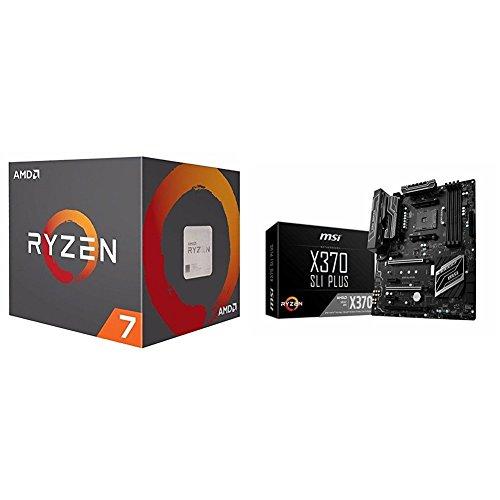 AMD Ryzen 7 1800X Processor (YD180XBCAEWOF) and MSI ATX D...