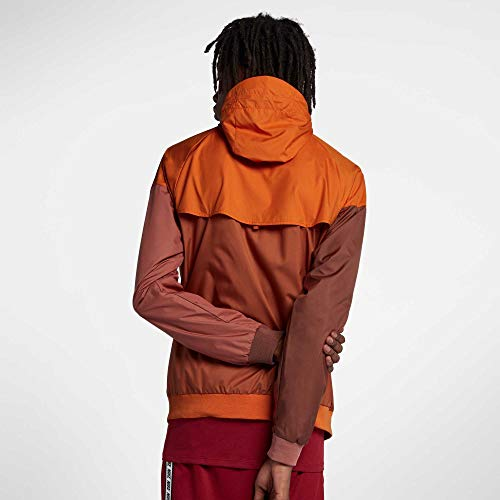 Nike Men's Windrunner Full Zip Jacket (Cmpfre Ornge/Dk Russet/Small) by Nike (Image #1)