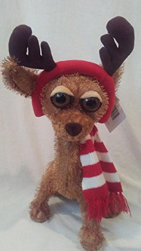 Twisted Whiskers Reindeer Dog BUSTER Stuffed Plush Large 17