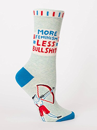 Blue Q Socks, Women's Crew, More Feminism Less Bulls--t