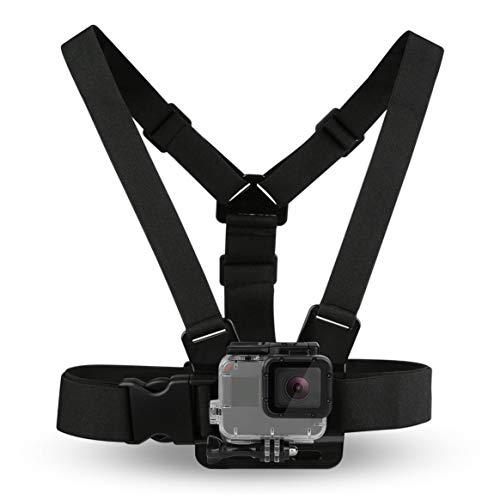 Smartlove1P Black Durable Ultra Immersive Adjustable Harness Chest Strap Mount Chest Strap Mount Belt for Gopro Camera