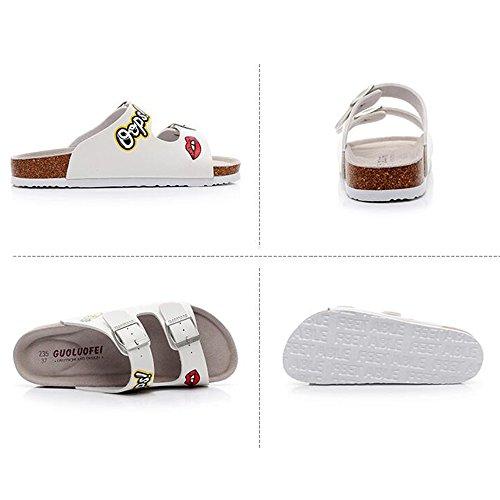 ZHANGRONG confort d'été PU de Pantoufles marche de femmes chaussures PU HrqwrxtIC