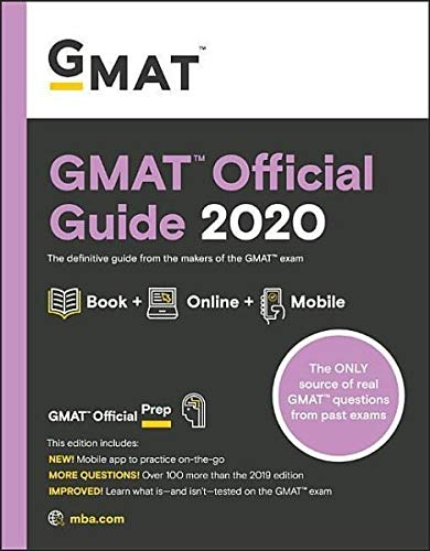 GMAT Official Guide 2020: Book + Online Question Bank (Best Gmat Study Guide 2019)