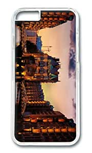 Water city dusk views PC Transparent Hard Case for Apple iPhone 6(4.7 inch)