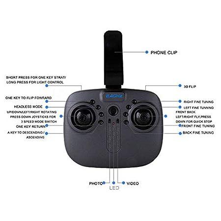 BeesClover 8807W Drones Plegables con cámara WiFi FPV HD 2.4 G 6 ...