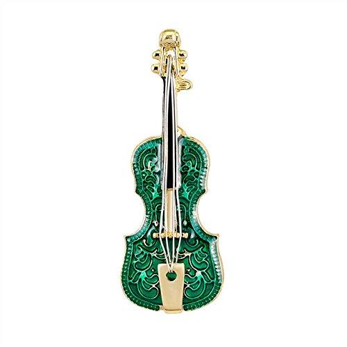 Vi.yo 楽器ブローチ スーツシャツ襟ピン バイオリン 合金製 メンズ レディース 人気 アクセサリー 入園式 卒業式 ギフト 1.9*5.3 cmの商品画像